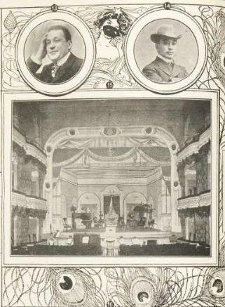 « La saison théâtrale à Montréal en pleine activité : […] Le Théâtre des Nouveautés », détail, « L'Album universel », vol. 19 no 24 (11 octobre 1902), p. 564-565.
