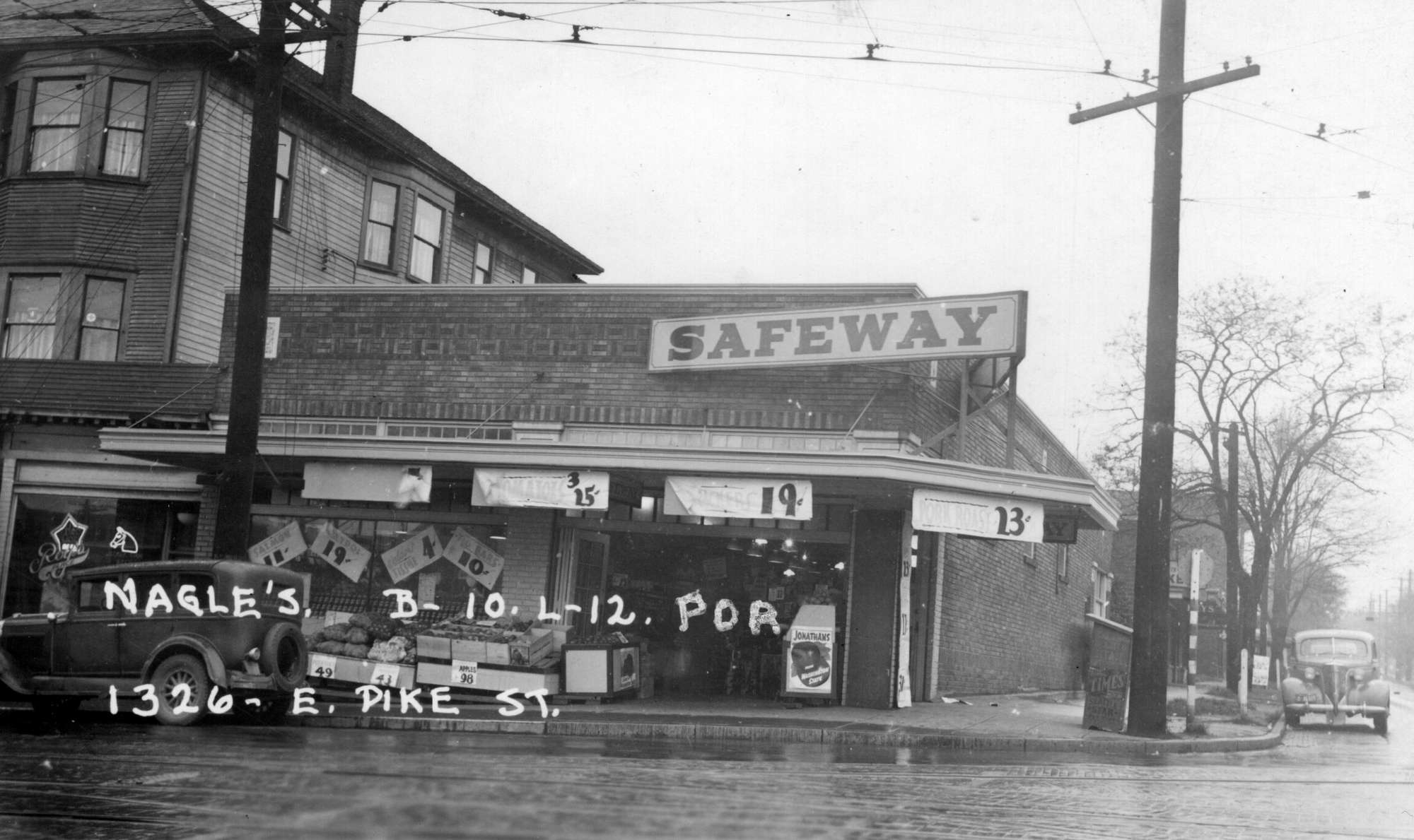 1326 East Pike St. Parcel 600300-0295. Courtesy Washington State Archives Puget Sound Regional Branch. & Capitol Hill Historical Society | The grocery revolution reaches ...